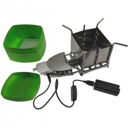 ステンレス製 薪ストーブ キャンプ バーベキュー コンロ 焚き火 持ち運び可能 軽量ストーブ ポータブル 折りたたみ アウトドア ピクニック BBQ 非常用